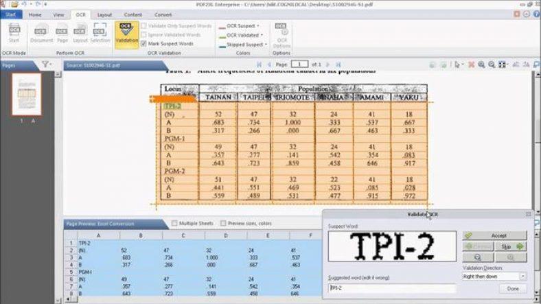 Cogniview PDF2XL